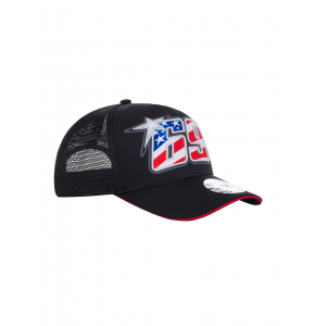 Black Trucker Baseball Cap - Nicky Hayden 69