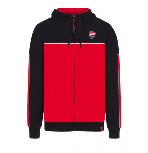 Felpa con zip Ducati Corse - Black & Red