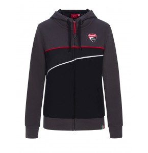 Woman's Hoodie with zip - Ducati Corse
