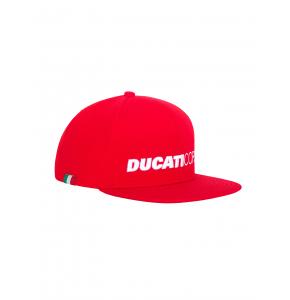Cappellino Ducati Corse Flat Visor Red