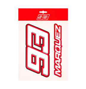 Large stickers Marc Marquez 93 - Red Edition