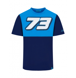 T-shirt Alex Marquez 73 - Blue