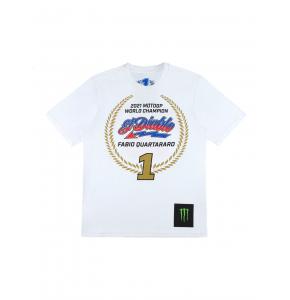 T-shirt Homme Fabio Quartararo Champion du Monde MotoGP 2021
