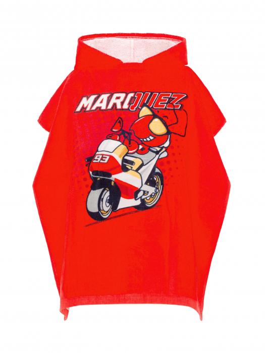 Peignoir poncho enfant Marc Marquez