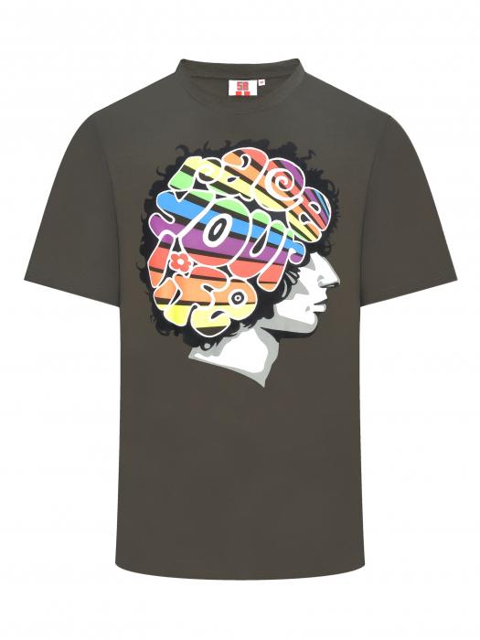 Marco Simoncelli T-shirt - Rainbow Profile