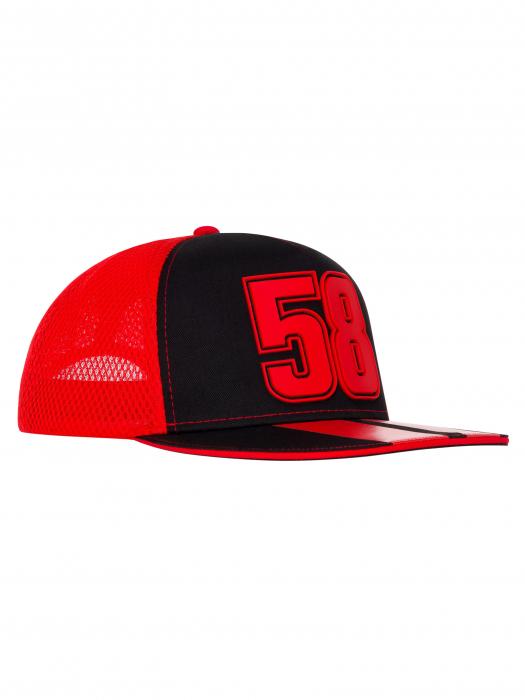 Cappello Marco Simoncelli - 58 rosso e nero