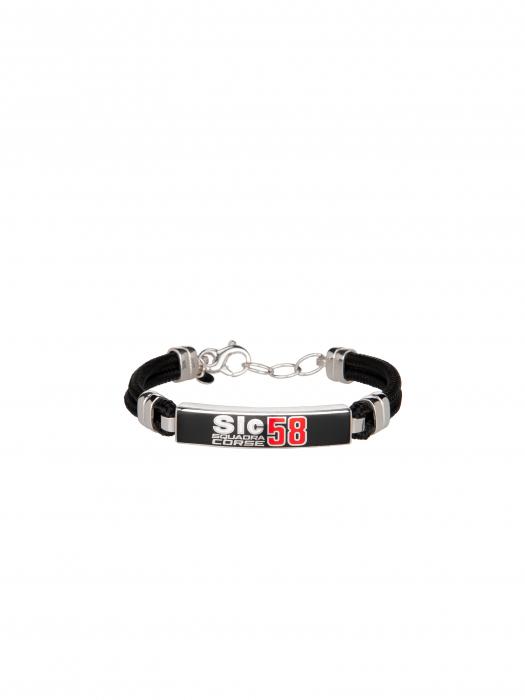 Silver bracelet Sic58 Squadra Corse - Black