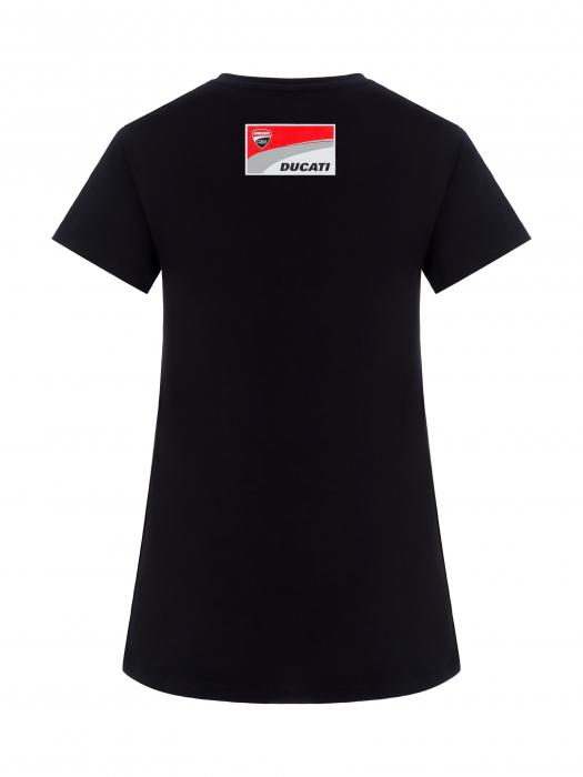 Camiseta mujer Ducati Corse - Negra y roja