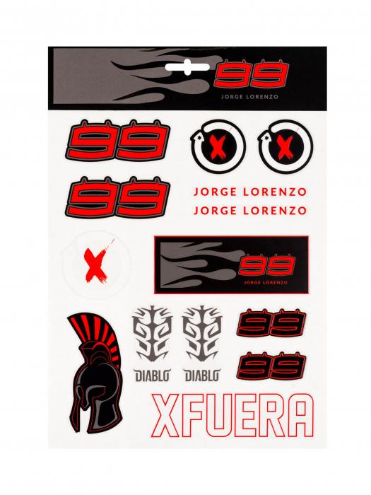 Autocollants Jorge Lorenzo - Gros