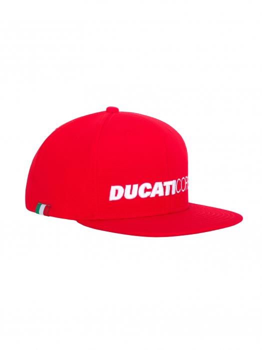 Cap Ducati Corse Flat Visor Red