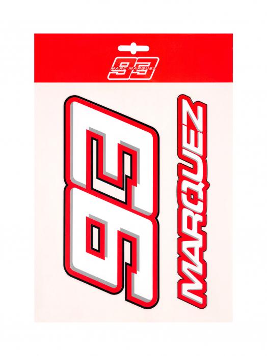 Grands autocollants Marc Marquez 93 - Red Edition