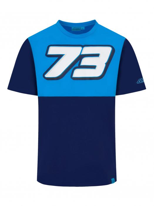 T-shirt Alex Marquez 73 - Blue